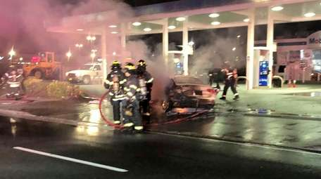 Inwood firefighters and emergency medical service crews respond