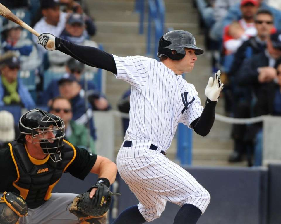 Brett Gardner bats against the Pittsburgh Pirates at