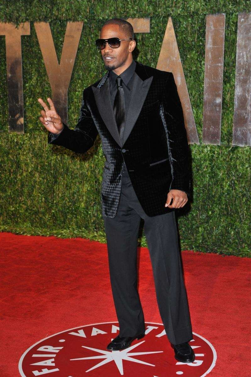 Actor Jamie Foxx arrives at the 2010 Vanity