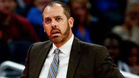 Frank Vogel waits for an official's explanation on