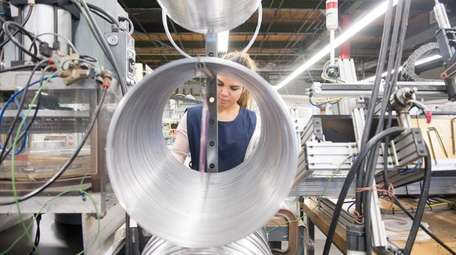Employee in the Mill Works production area at