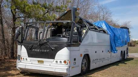 The coach bus that hit a Southern State