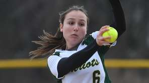 Ward Melville pitcher Kristina Maggiacomo delivers a pitch