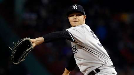 New York Yankees starting pitcher Sonny Gray delivers
