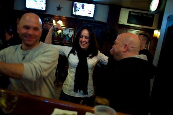Patrons hang out at the bar at Declan