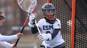 Eastport-South Manor goalie Katie Vahle gets in position