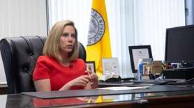 On Wednesday, Hempstead Town Supervisor Laura Gillen talked