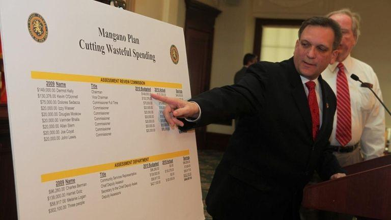 Nassau County Executive Edward Mangano announces a plan