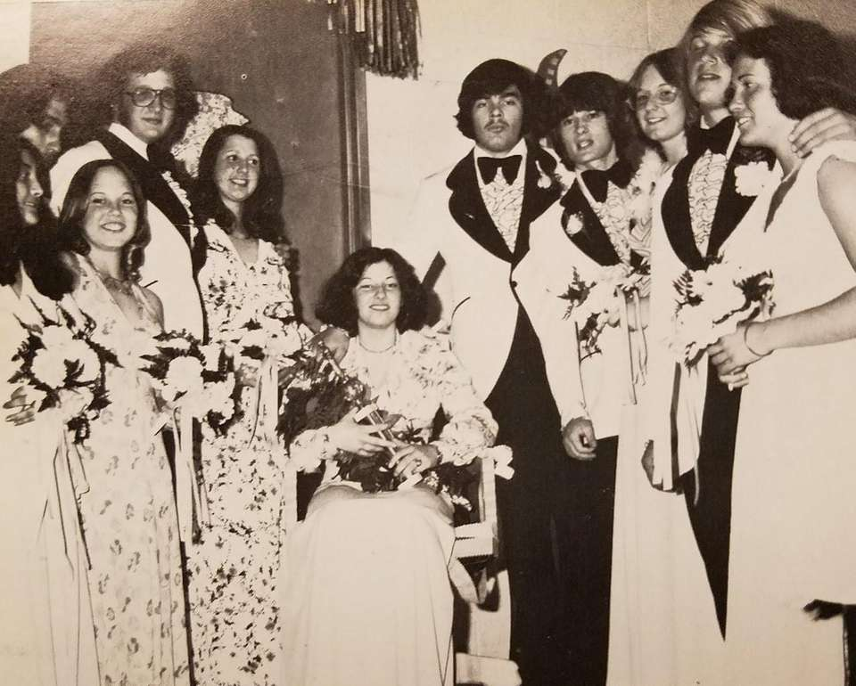 Linda Galasso, center, was crowned Queen at Islip's