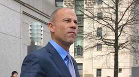Stormy Daniels' lawyer, Michael Avenatti, spoke after appearing
