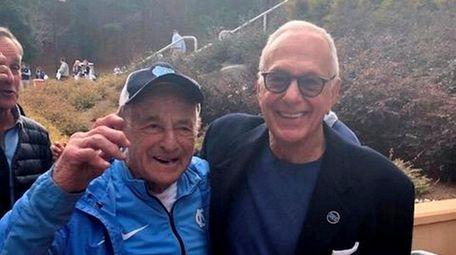 Bobby Gersten, left, with Larry Brown. Gersten was