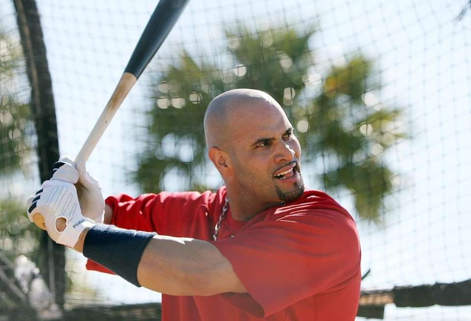 St. Louis Cardinals first baseman Albert Pujols takes