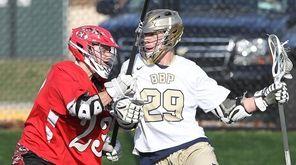 Bayport-Blue Point's Vincent Grazdei takes the ball around