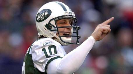 Jets quarterback Chad Pennington during a game against