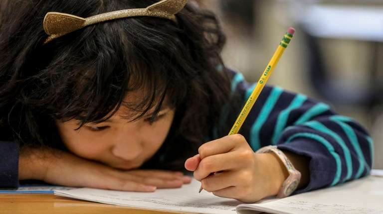 A third-grader at Holbrook Road Elementary School in