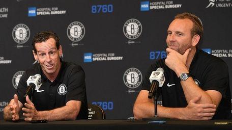 Nets head coach Kenny Atkinson and GM Sean