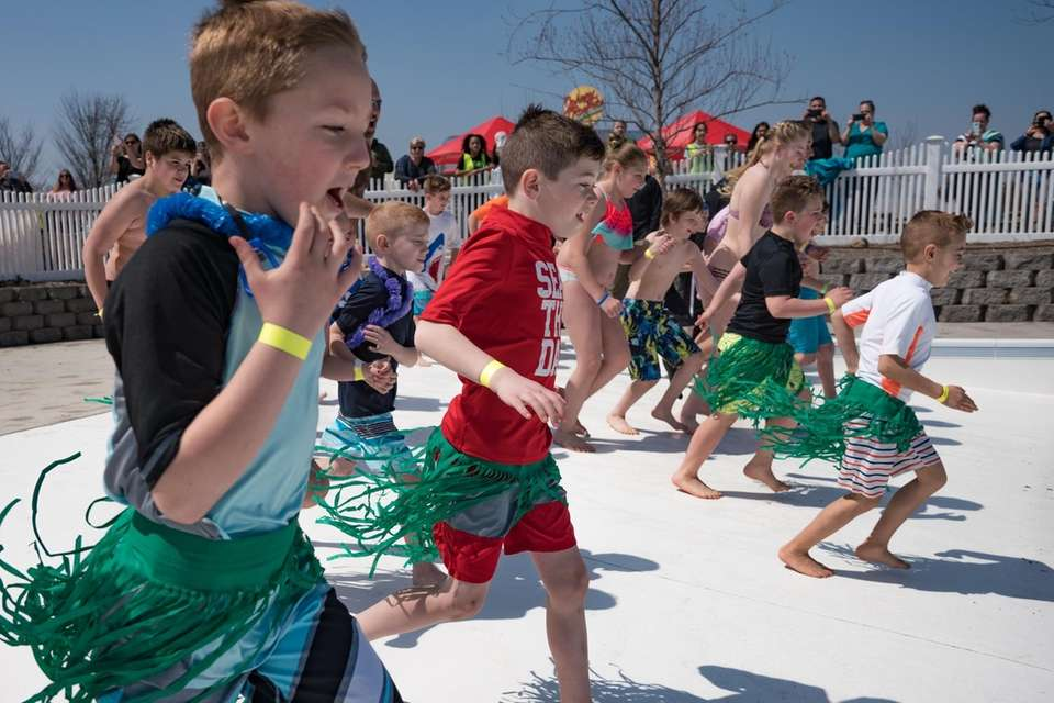 The warm, spring weather attracted many participants to