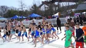 The annual Polar Plunge was held at Splish