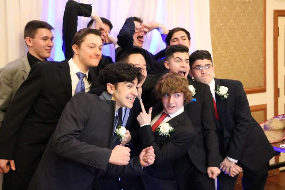 Hauppauge High School students celebrate their junior prom