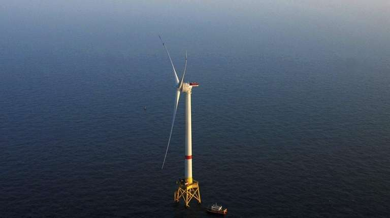 An Alstom turbine that Deepwater Wind is using
