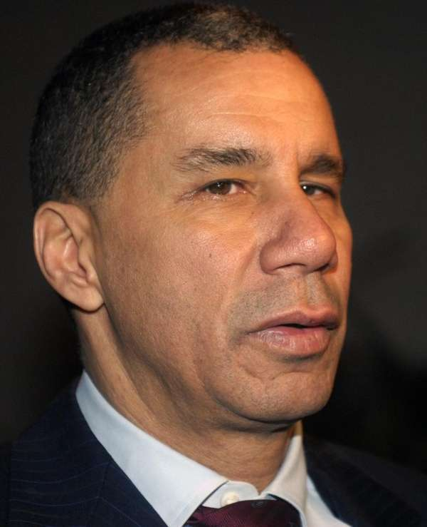 New York Gov. David A. Paterson talks with