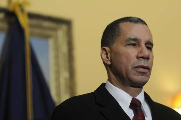 New York Gov. David A. Paterson takes questions