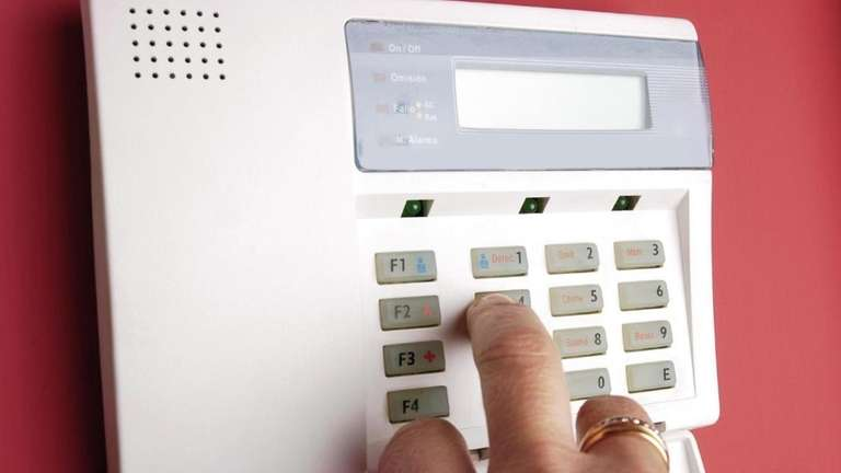 Undated stock photo of a home alarm system.
