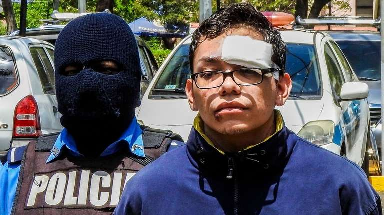 Orlando Tercero in police custody on March 14