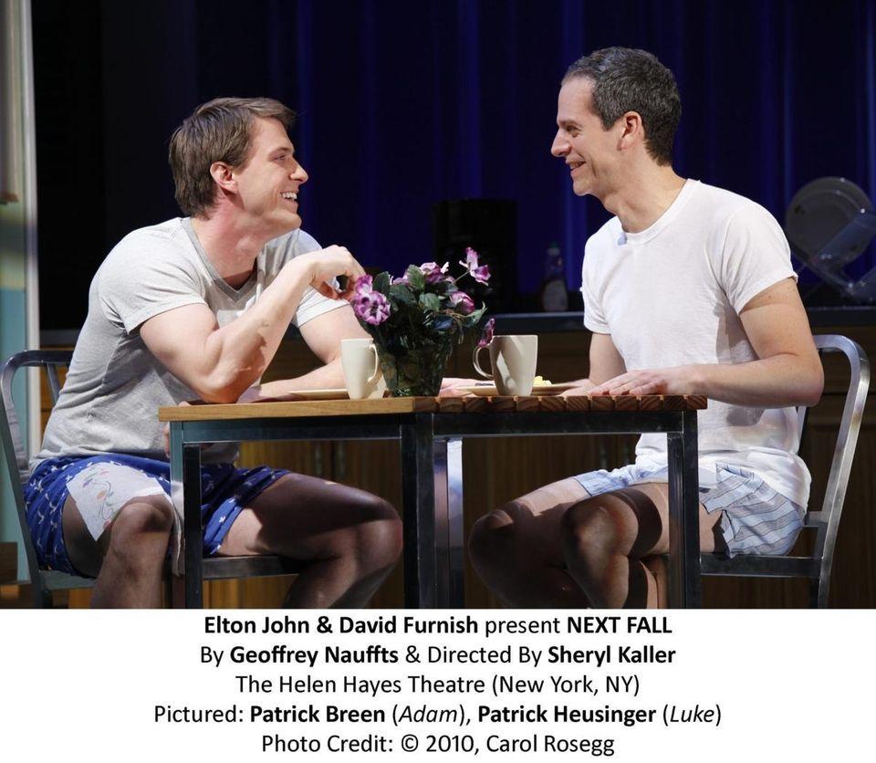 Patrick Breen (Adam), Patrick Heusinger (Luke) in Broadway