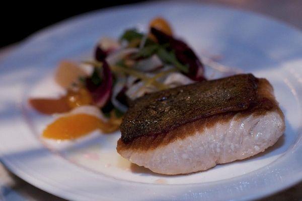 Salmone bianco, Alaska king ivory salmon and garnished