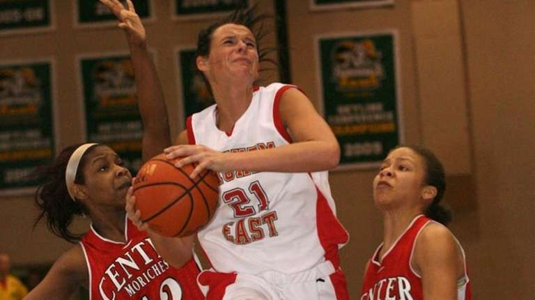 Kristen Doherty of Sachem East looks to score