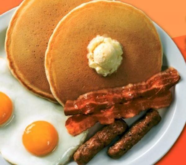 Denny's Grand Slam breakfast