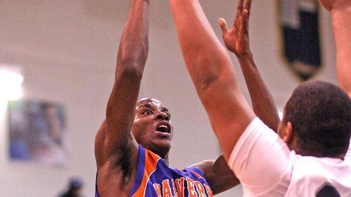 Malverne's Dashawn Moorer shoots from the corner. (March
