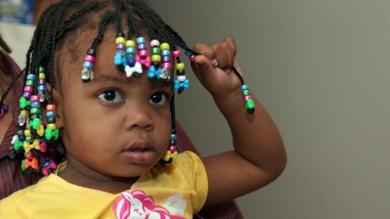 Brianna Dacius, 2, returned home to her parents