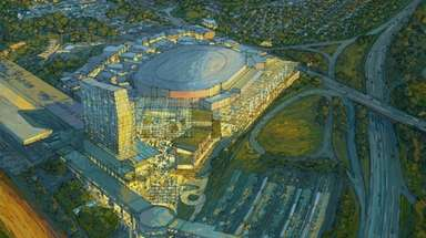 Rendering of the proposed development at Belmont Park,