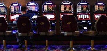 Video-lottery terminals at Resorts World Casino at the