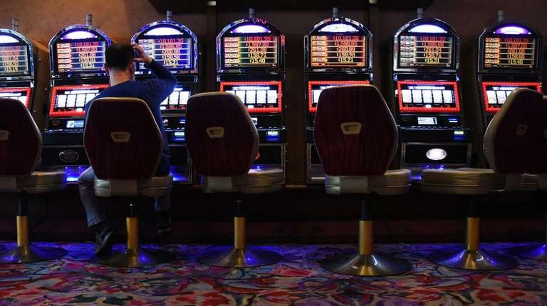 Video-lottery terminals at Resorts World Casino at the