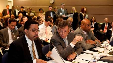 NYS Board of Regents members (left to right)