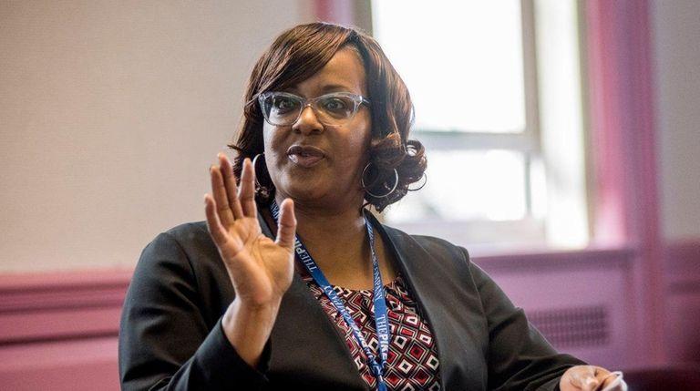 Acting Hempstead schools Superintendent Regina Armstrong discusses the