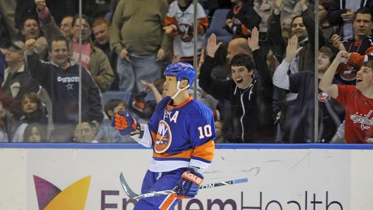Richard Park of the Islanders is more subdued