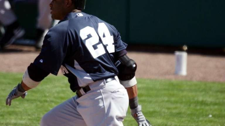 Robinson Cano bats against the Minnesota Twins at