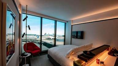Rooms in the TWA Hotel at JFK Airport