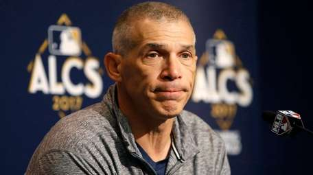 Yankees manager Joe Girardi answers questions during an