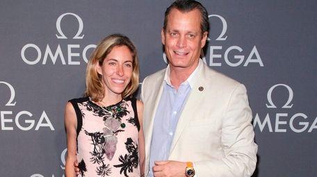 Nicole and Matthew Mellon attend the Omega Speedmaster