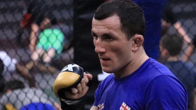 UFC fighter Merab Dvalishvili trains for his upcoming