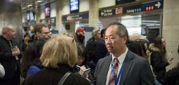 To hear concerns and suggestions, LIRR president Phil