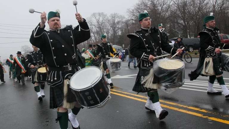 ROCKY POINT, NY MARCH 14, 2010: Drummers from