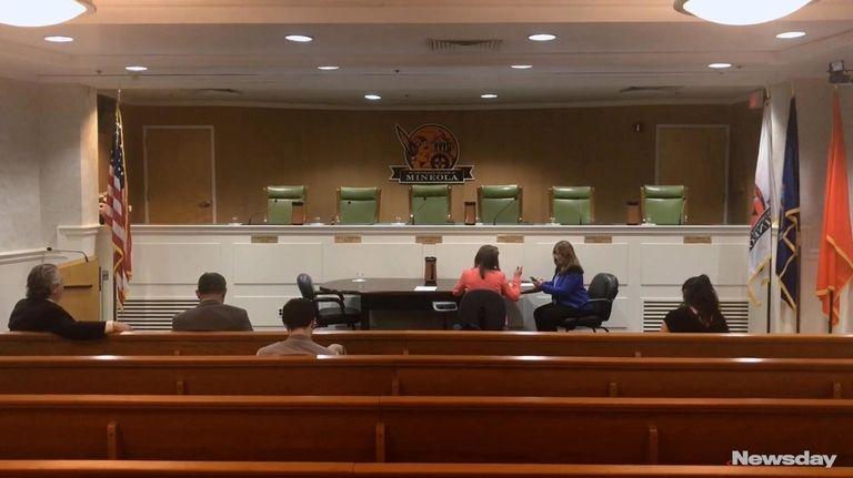 On Monday, Mineola Mayor Scott Strauss discussedthe village
