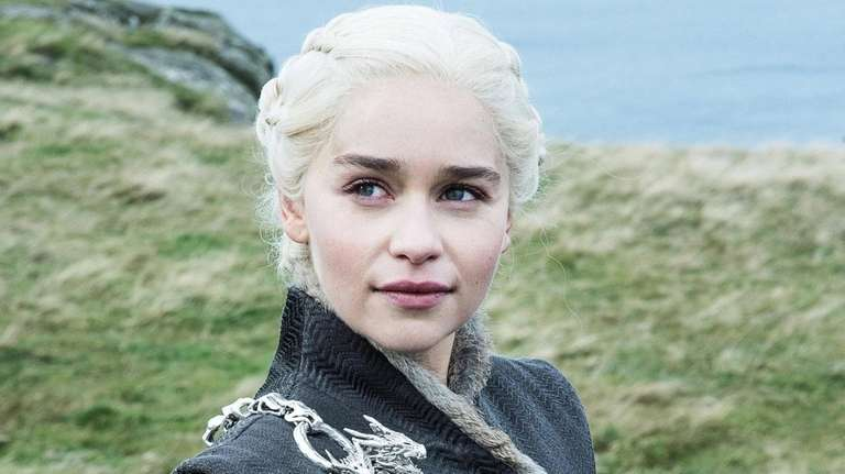 Emilia Clarke as Daenerys Targaryen in HBO's