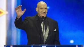 Bruno Sammartino greets the audience at the WWE